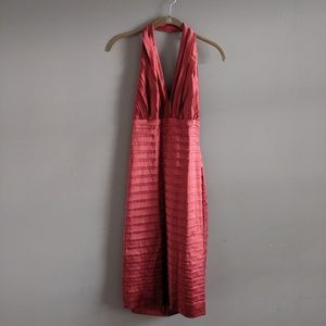 Tadashi Shoji Collection Sz 4 Rust Red Silk Dress